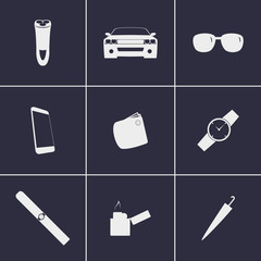 mens Accessories icons