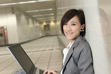 attractive young business woman of Asian