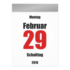 kalenderblatt v2 schalttag 2016 II