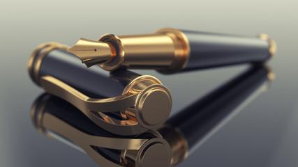 Elegant business fountain pen