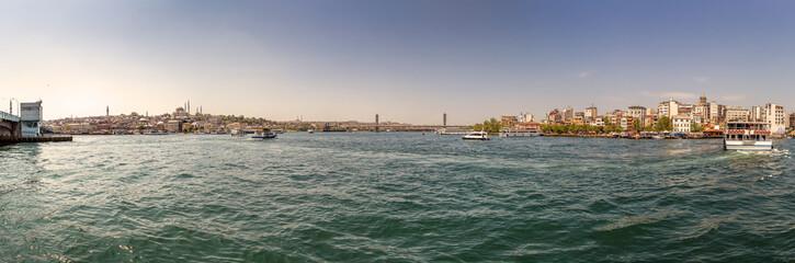 Panorama of  Bosphorus...  Istanbul, Turkey