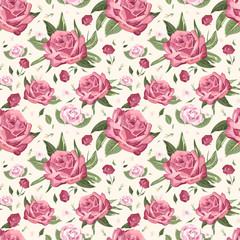 romantic seamless floral pattern