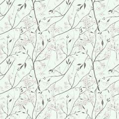 elegant floral seamless pattern over beige
