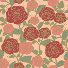 elegant seamless floral pattern with roses