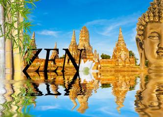 composition zen, temple de Wat Chaï, Thaïlande