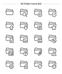 Line icon - Folder icons set, Bold