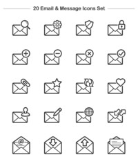 Line icon - Email & Message icons set, Bold