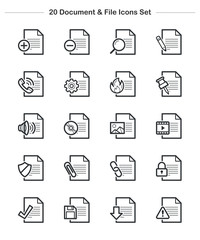 Line icon - Document & File icons set, Bold