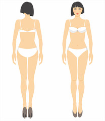Vector illustration of woman's figure. Dummy.