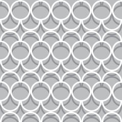 Seamless Interlocking monochrome Circles Pattern