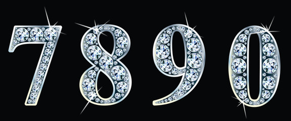 Diamond numbers set  7,8,9,0. Vector Eps10