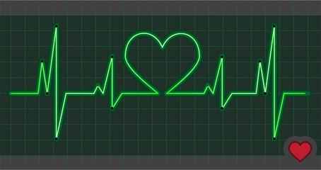 Cardiogram heart love