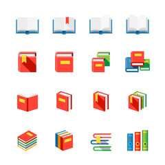 Book Icons : Flat Icon Set for Web and Mobile Application