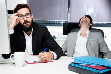 Kollegen im Büro