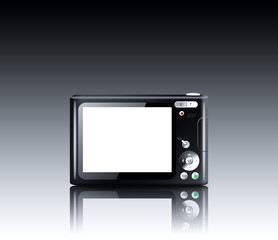 Compact digital camera with empty LCD screen