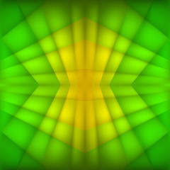 Abstract geometric green background. Vector Illustration