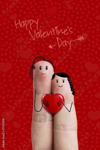 "finger art. painted fingers featuring a lesbian couple."" stock, Ideas"