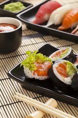 The composition of sushi