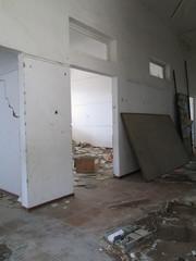 Interno di uno stabile abbandonato