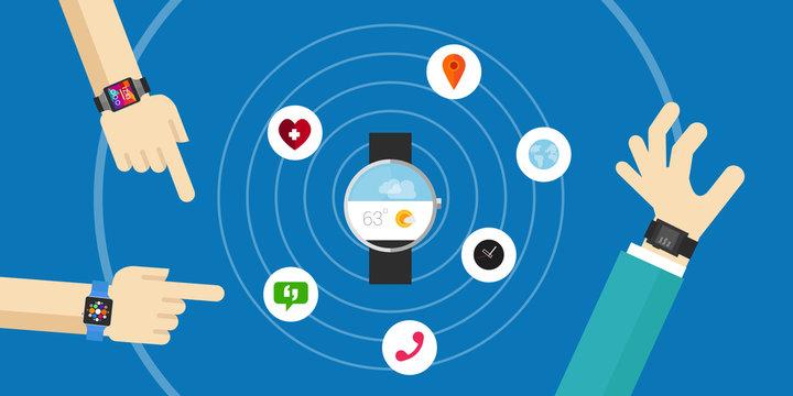 Smart watch wearable functions