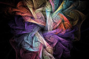Abstract regular geometrical fractal structure