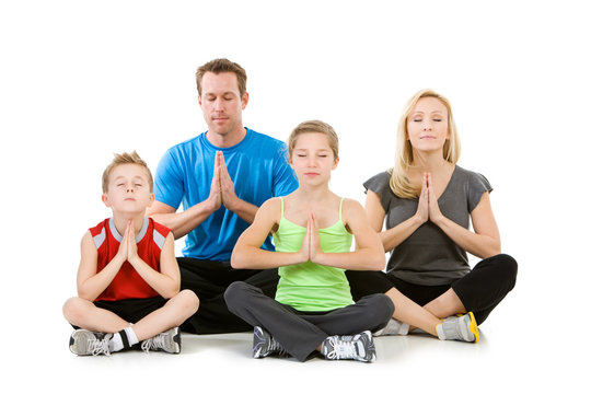 Family: Family Meditating Together