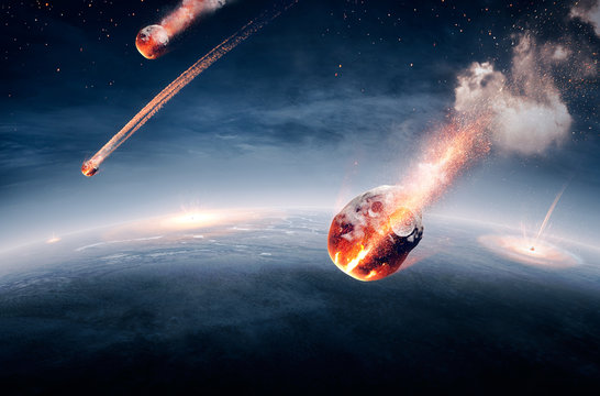 Meteorites on their way to earth