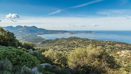 Calvi Bay in Balagne region of Corsica