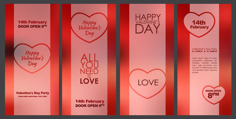 Design cards for Valentine's Day.