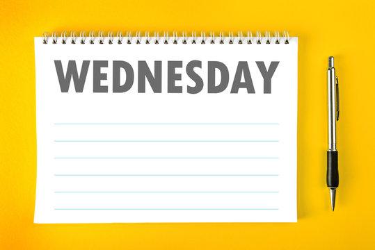 Wednesday Calendar Schedule Blank Page