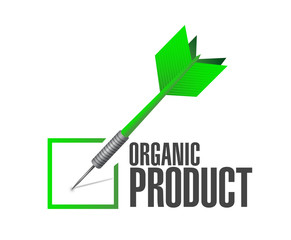 organic product dart check mark illustration