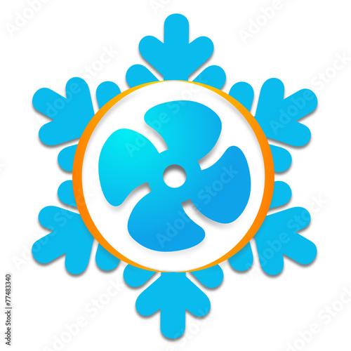 quotlogo climatisation ventilation froidquot fichier vectoriel