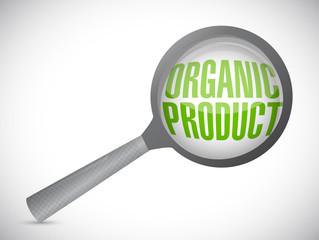 organic product magnify glass illustration design