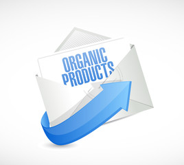 organic product email illustration design