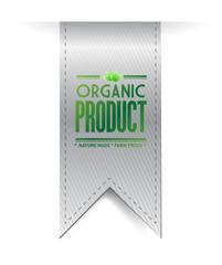 organic product banner sign illustration design