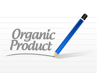 organic product message sign illustration design
