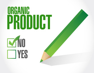no to organic products check list illustration
