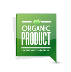 organic product pointer sign illustration design
