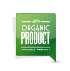 organic product pointer sign illustration design