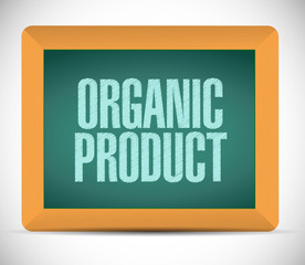 organic product board sign illustration design