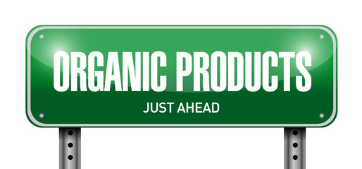 organic product road sign illustration design