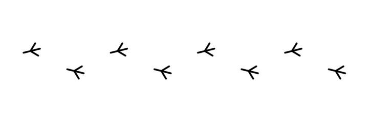 Vogelspur, Vektor, schwarz, freigestellt