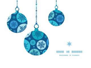Vector round snowflakes Christmas snowflake silhouette pattern
