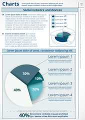 Infographics. Vector of business data. Series page 3.