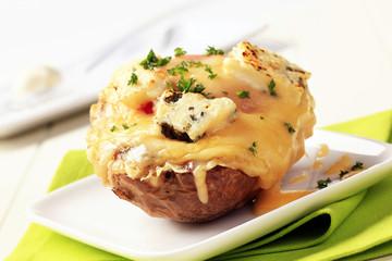 Double cheese twice baked potato