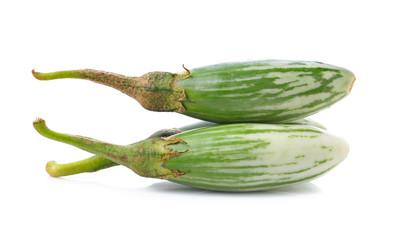 Thai Green Eggplant on white background