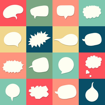 Vector speach bubbles background set