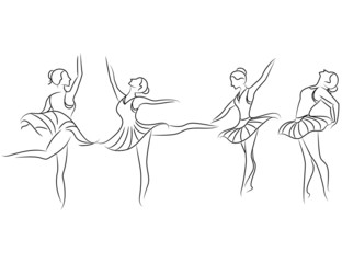 sketch ballet dancer