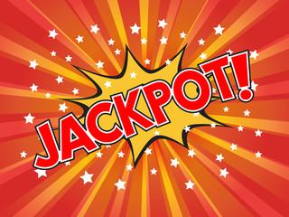 Jackpot, Jackpot!, wording in comic speech bubble on burst backg