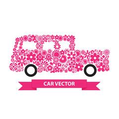 Flower Car vector